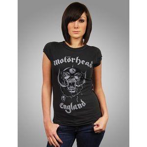 Gray Motorhead Lemmy Women's Band Tee by Amplified